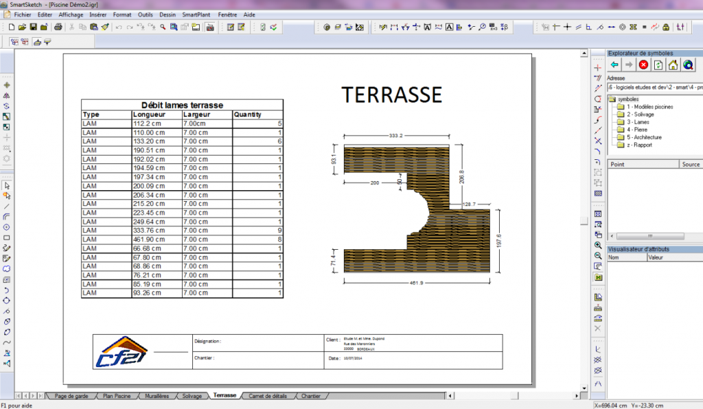 logiciel charpente ossature bois terrasse smartsketch cf2i. Black Bedroom Furniture Sets. Home Design Ideas